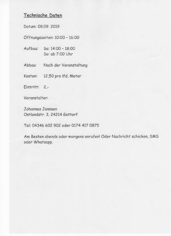 Fossilien Börse Rendsburg 2019
