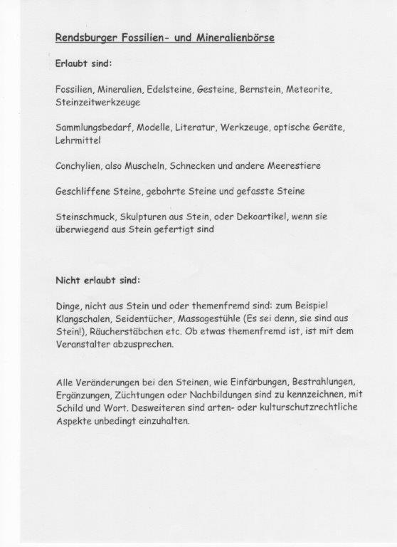 Mineralien und Fossilien Börse Rendsburg 2019