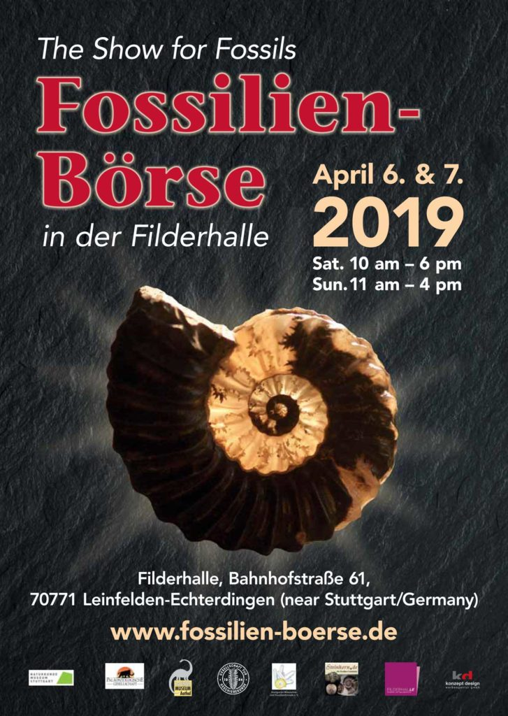 Poster Fossilienbörse 2019